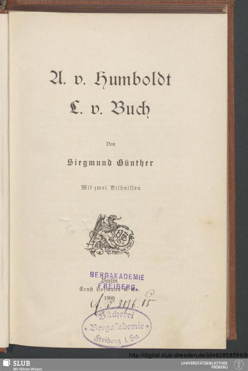 Vorschaubild von A. v. Humboldt