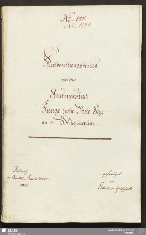 Vorschaubild von Aufbereitungsbericht von dem Grubengebäude Junge hohe Birke Fdgr. an der Münzbachhütte