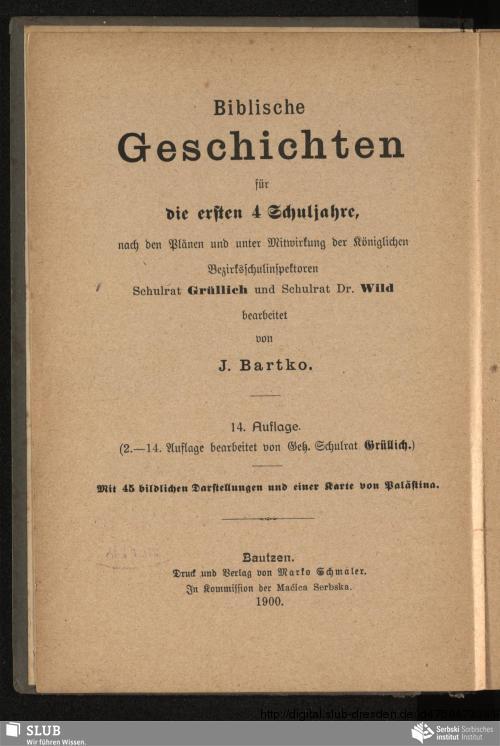 Vorschaubild von Bibliske stawizny za prěnje 4 šulske lěta