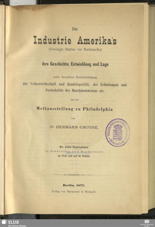 Vorschaubild von Die Industrie Amerika's (Vereinigte Staaten von Nordamerika)