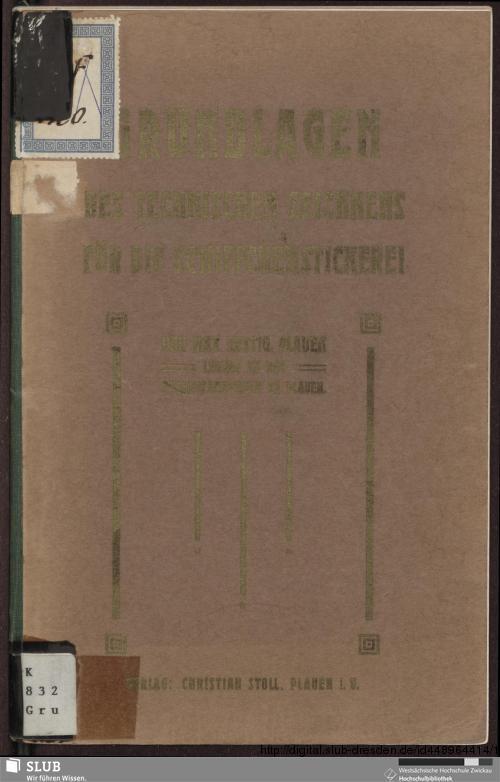 Vorschaubild von Grundlagen des technischen Zeichnens für die Schiffchen-Stickerei