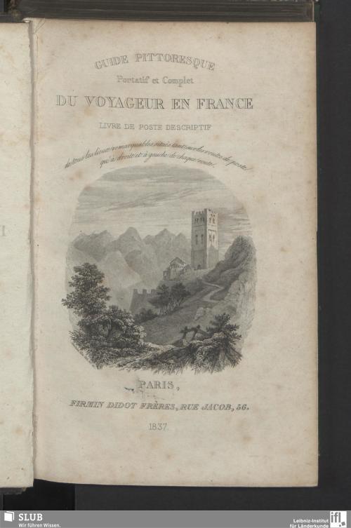 Vorschaubild von Guide pittoresque portatif et complet du voyageur en France