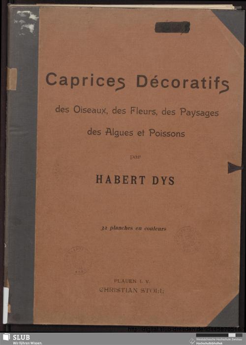 Vorschaubild von Caprices Décoratifs des Oiseaux, des Fleurs, des Paysages, des Algues et Possions