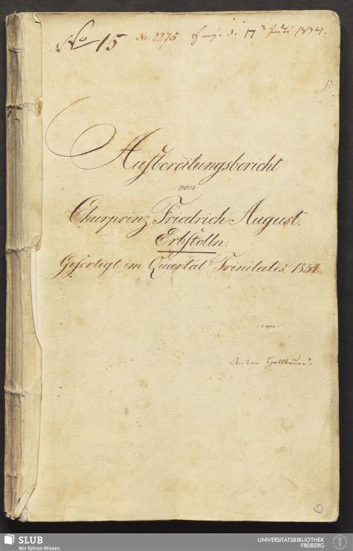 Vorschaubild von Aufbereitungsbericht von Churprinz Friedrich August, Erbstolln - 18.6927 4.