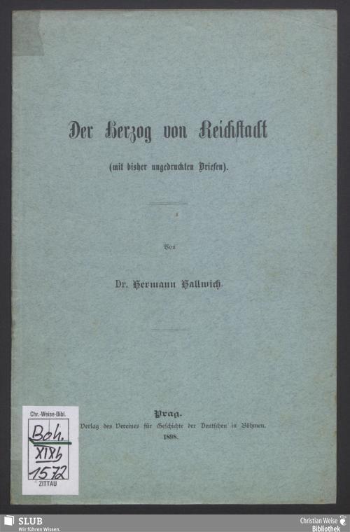 Vorschaubild von Der Herzog von Reichstadt