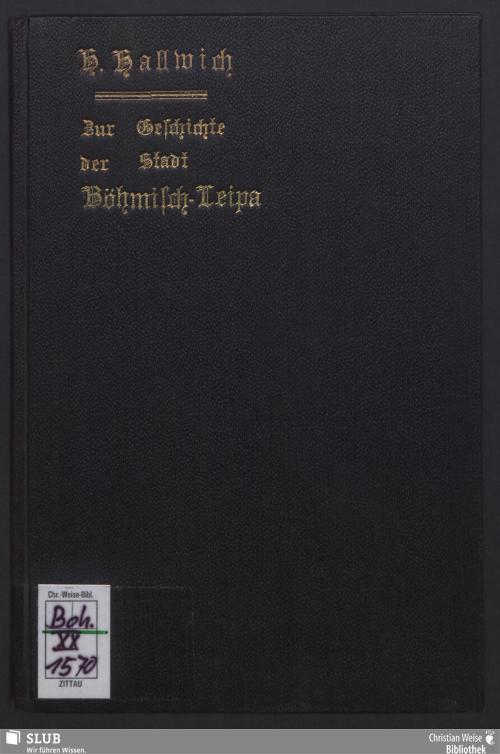 Vorschaubild von Zur Geschichte der Stadt Böhmisch-Leipa