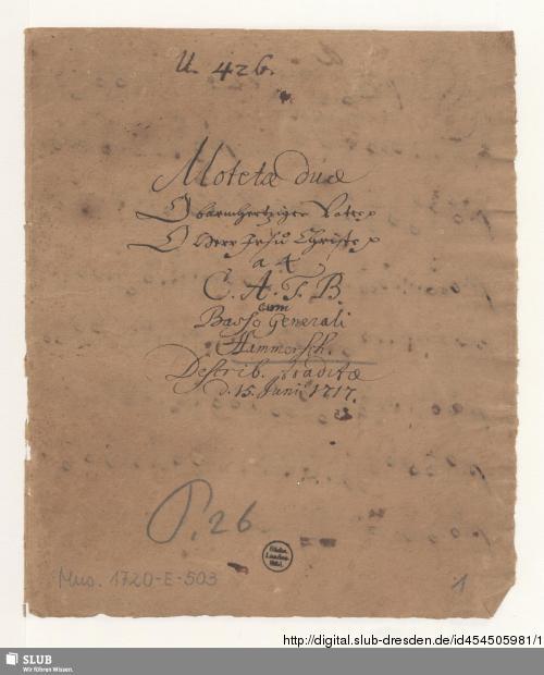 Vorschaubild von 2 Motets - Mus.1720-E-503