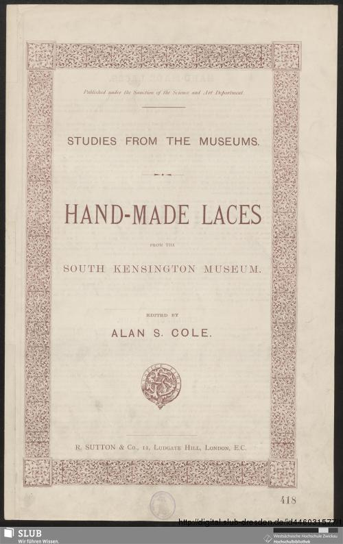 Vorschaubild von Hand-Made Laces from the South Kensington Museum