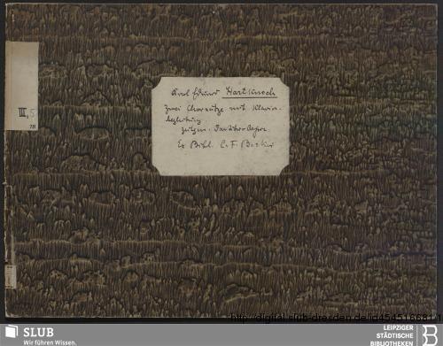 Vorschaubild von 2 Vocal pieces - Becker III.5.18