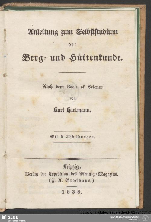 Vorschaubild von Anleitung zum Selbststudium der Berg- und Hüttenkunde