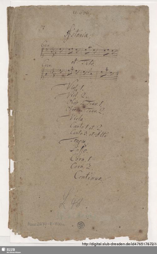 Vorschaubild von 2 Operas. Excerpts - Mus.2477-E-500 - Mus.2477-E-500a