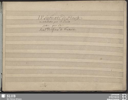 Vorschaubild von 4 Sonatas - Becker III.11.46b