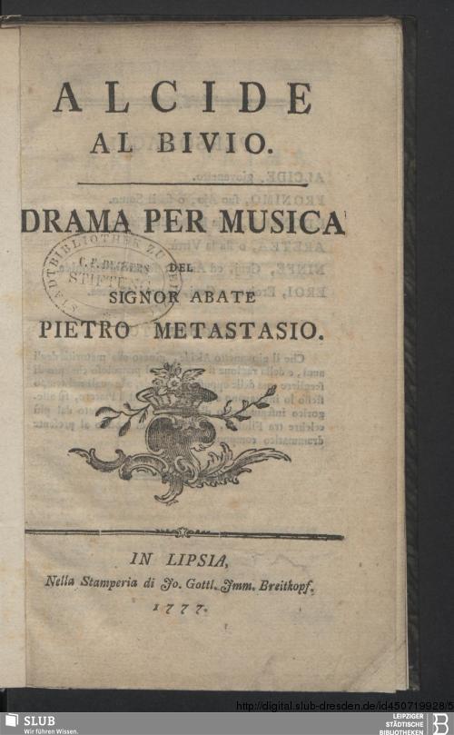 Vorschaubild von Alcide Al Bivio