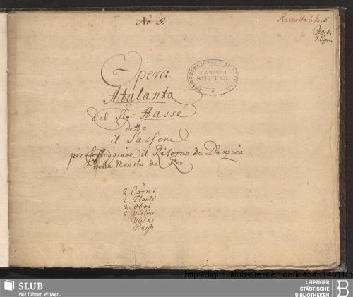 Vorschaubild von Atalanta. Excerpts - Becker III.12.5/2