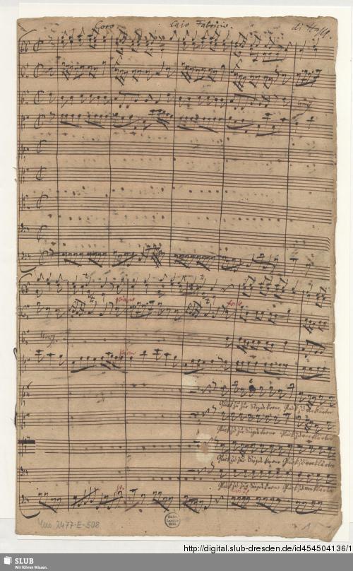 Vorschaubild von Cajo Fabricio. Excerpts. Arr - Mus.2477-E-508