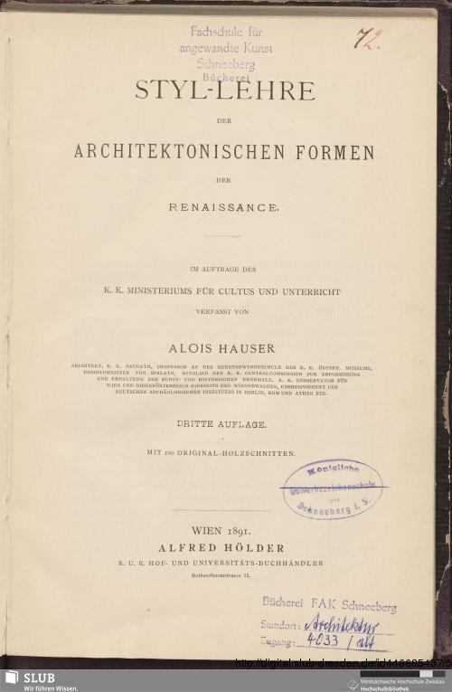 Vorschaubild von Styl-Lehre der architektonischen Formen der Renaissance