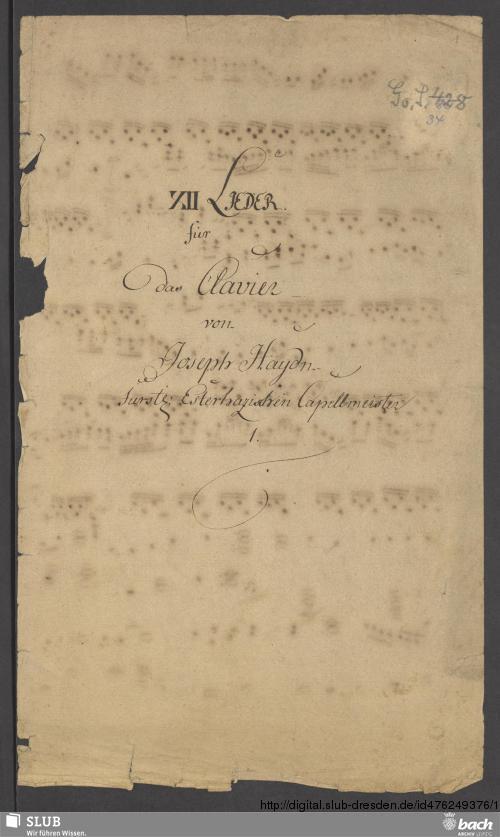 Vorschaubild von 12 Lieder - Go. S. 428