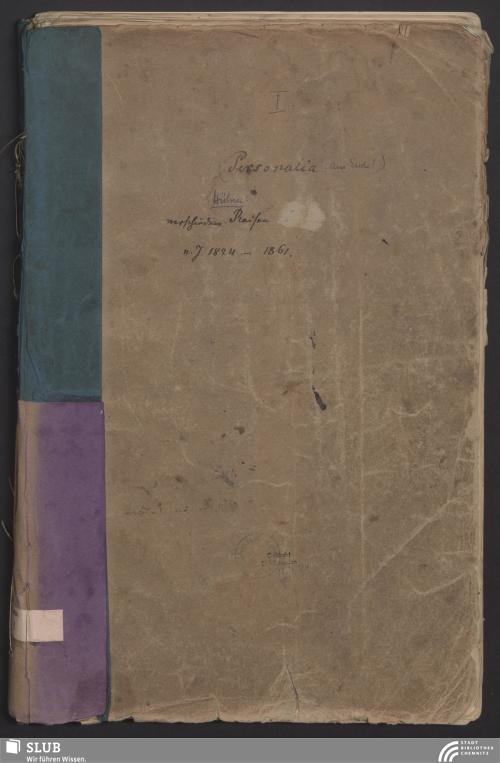 Vorschaubild von Verschiedene Reisen 1824-1861 - App. 2276/1