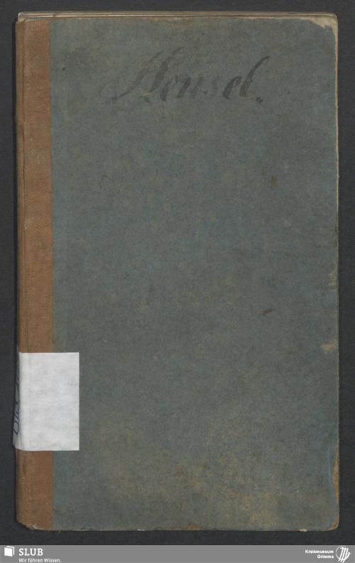 Vorschaubild von Arbeitsbuch für den Schmied Johann Friedrich Wilhelm Hensel aus Lipsa bei Ruhland (Kamenz) - BId 105