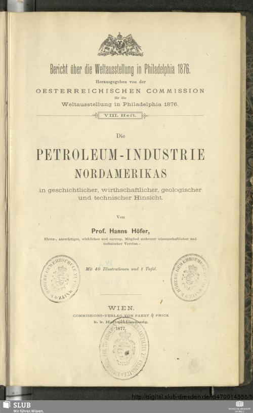 Vorschaubild von Die Petroleum-Industrie Nordamerikas