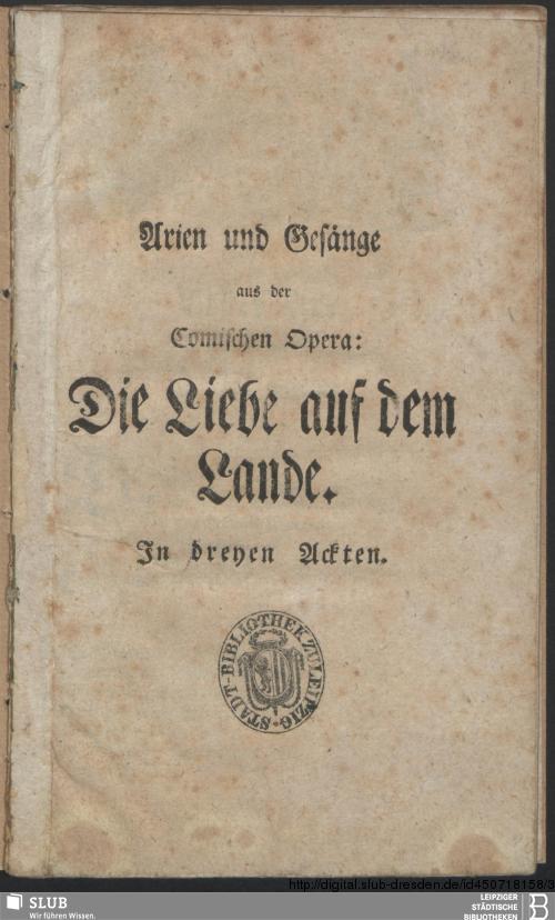 Vorschaubild von Arien und Gesänge aus der Comischen Opera