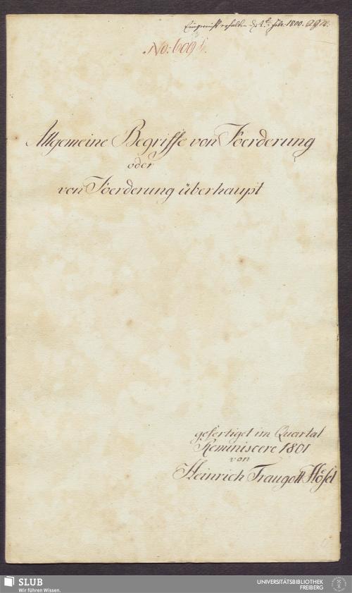 Vorschaubild von Allgemeine Begriffe von Foerderung oder von Foerderung überhaupt - 17.6501 4.