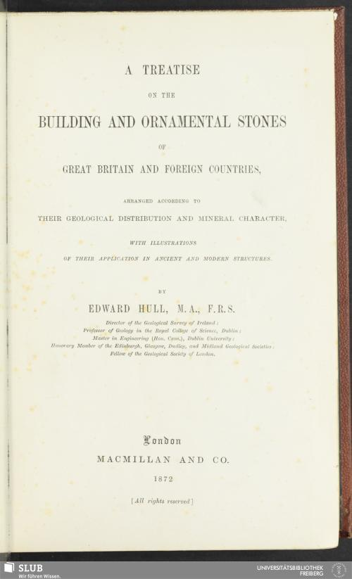 Vorschaubild von A treatise on the building and ornamental stones of Great Britain and foreign countries