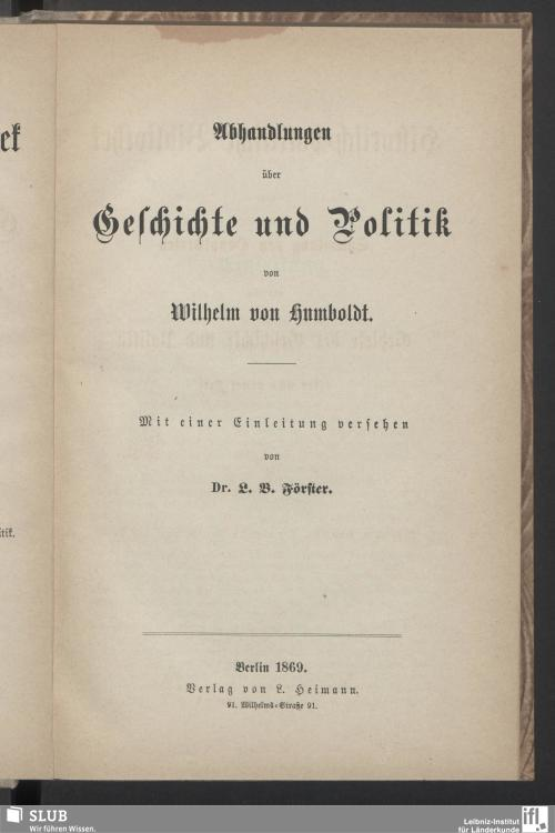 Vorschaubild von Abhandlungen über Geschichte und Politik