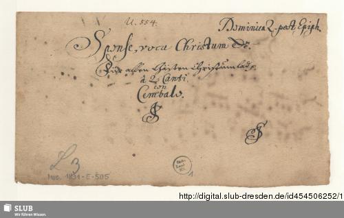 Vorschaubild von 2 Motets - Mus.1891-E-505
