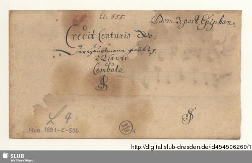 Vorschaubild von 2 Motets - Mus.1891-E-506