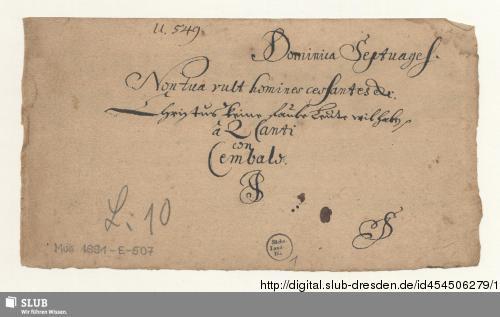 Vorschaubild von 2 Motets - Mus.1891-E-507