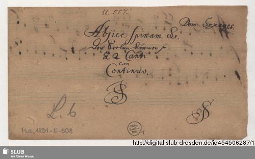 Vorschaubild von 2 Motets - Mus.1891-E-508
