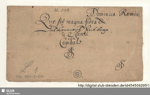 Vorschaubild von 2 Motets - Mus.1891-E-509