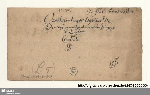 Vorschaubild von 2 Motets - Mus.1891-E-513
