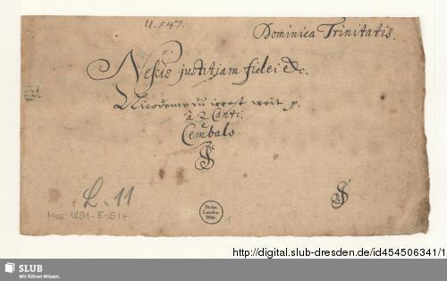 Vorschaubild von 2 Motets - Mus.1891-E-514