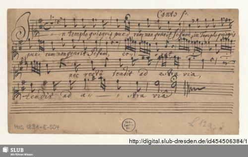 Vorschaubild von 2 Motets - Mus.1891-E-504