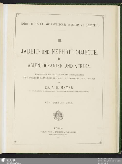 Vorschaubild von Jadeit- und Nephrit-Objecte