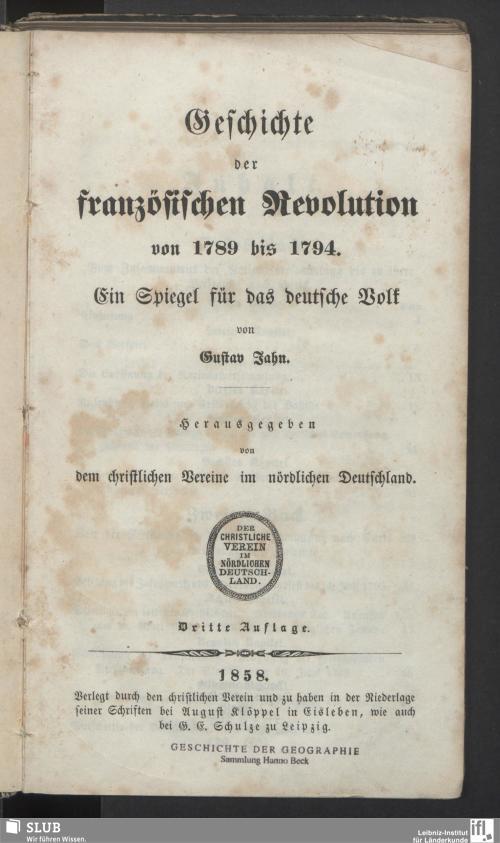 Vorschaubild von Geschichte der französischen Revolution von 1789 bis 1794