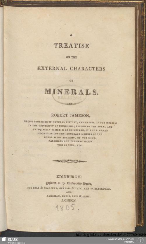 Vorschaubild von A Treatise On The External Characters Of Minerals