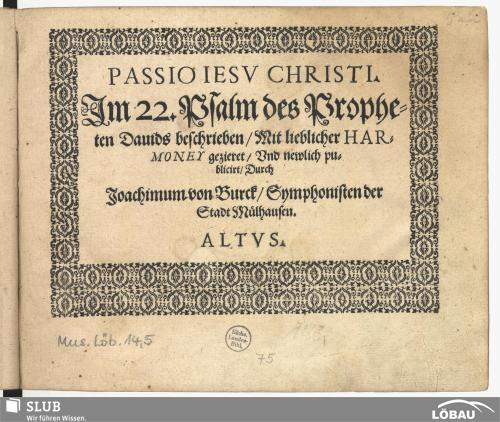 Vorschaubild von Passio Jesu Christi