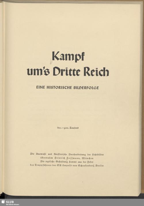 Vorschaubild von Kampf um's Dritte Reich