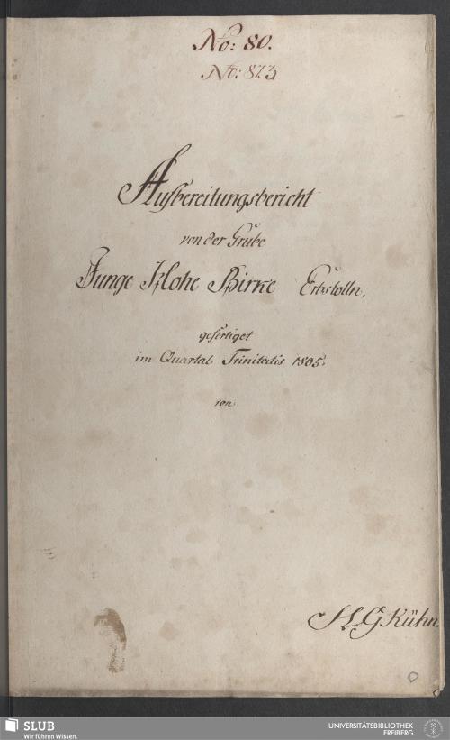 Vorschaubild von Aufbereitungsbericht von der Grube Junge Hohe Birke Erbstolln - 17.6730 4.