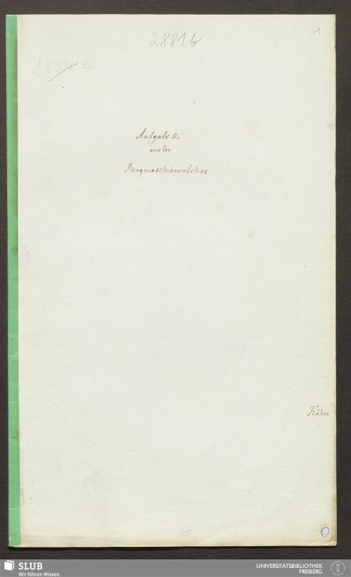 Vorschaubild von Aufgabe II, aus der Bergmaschienenlehre - 18.7556 4.