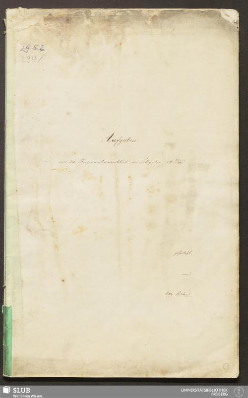 Vorschaubild von Aufgaben aus der Bergmaschienenlehre - 18.7616 2.