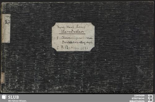 Vorschaubild von 5 Vocal pieces - Becker III.2.209