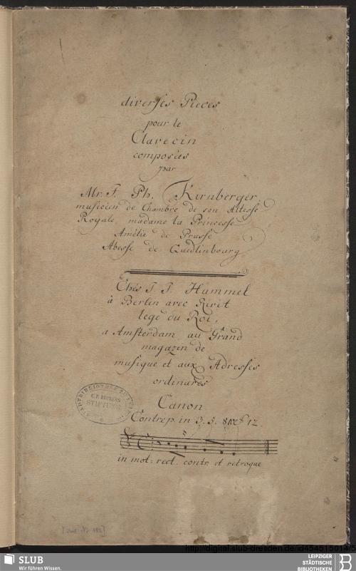 Vorschaubild von 9 Instrumental pieces - Becker III.8.36