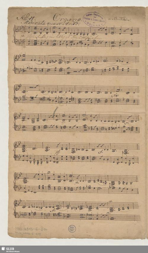 Vorschaubild von 2 Partsongs - Mus.4813-E-519