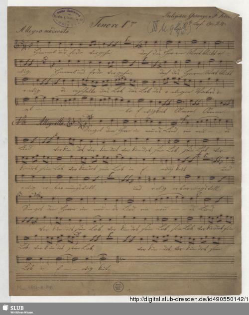 Vorschaubild von 2 Partsongs - Mus.4813-E-516