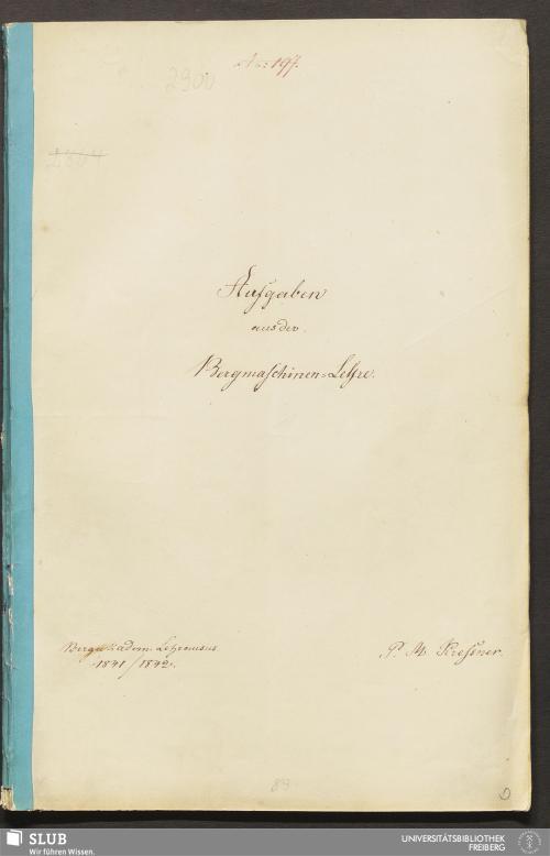 Vorschaubild von Aufgaben aus der Bergmaschinen-Lehre - 18.7575 4.