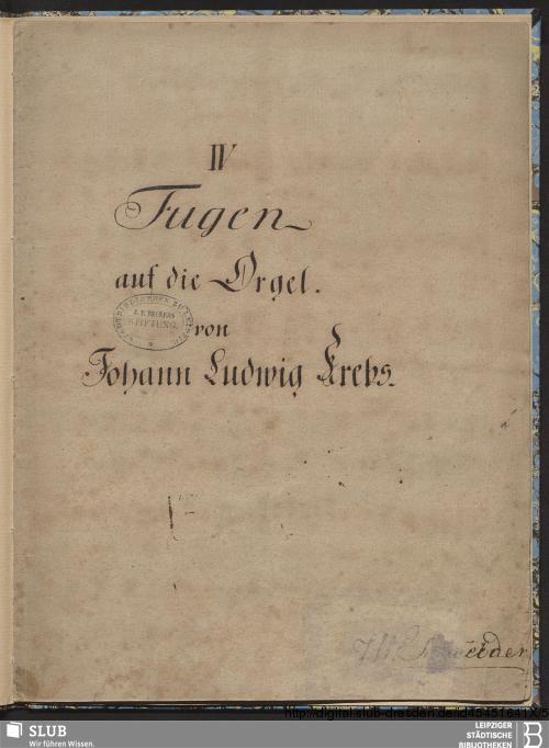 Vorschaubild von 4 Fugues - Becker III.8.43